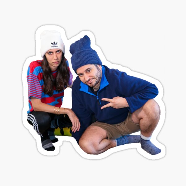 Ethan and Hila Sticker