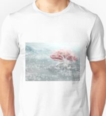 The Old - White and Red Tree in the Snow T-Shirt