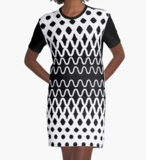 Waves into Particles Graphic T-Shirt Dress