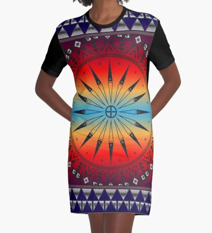 Morning Sky Graphic T-Shirt Dress