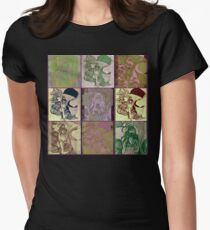 Vintage Belly Dancer Women's Fitted T-Shirt