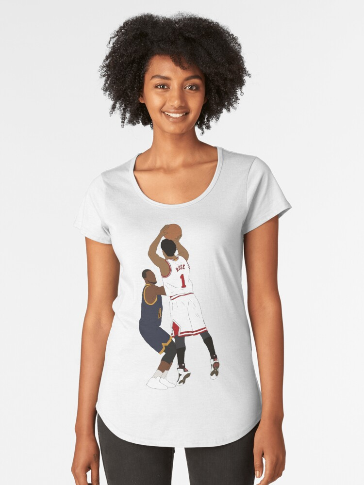 Derrick Rose Game Winner Women's Premium T-Shirt Front