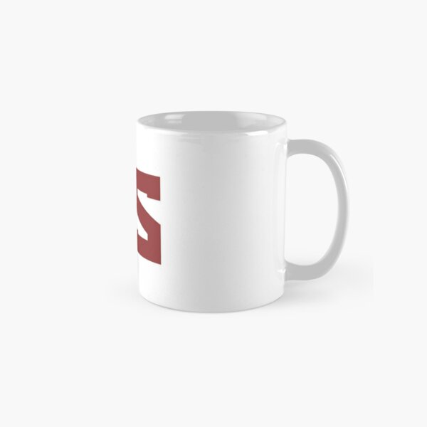 Red Scare Red on White Classic Mug