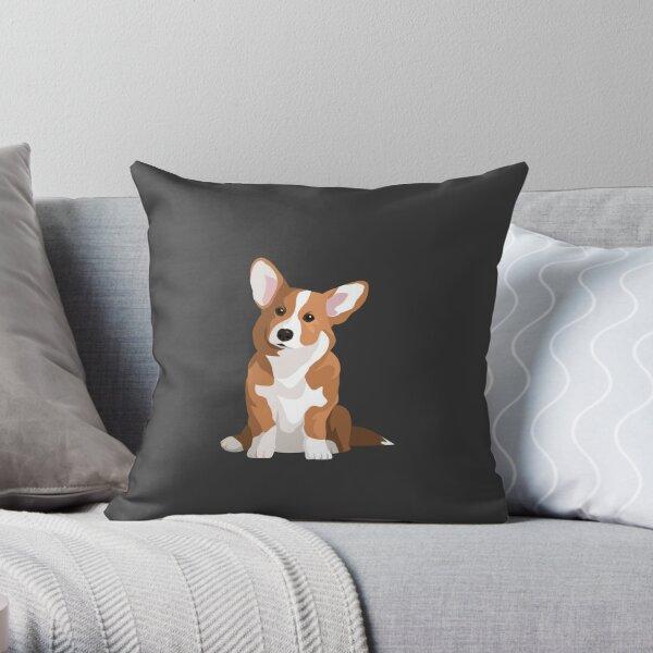 Lone Corgi Throw Pillow
