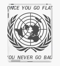 Flat Earth Designs - Once You Go Flat You Never Go Back iPad Case/Skin