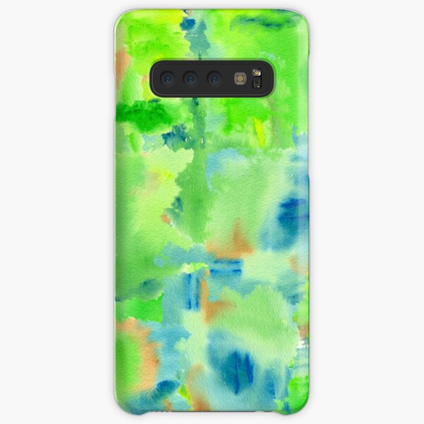In the Forest in Spring Abstract Watercolor Collage Samsung Galaxy Snap Case