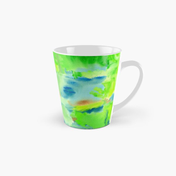 In the Forest in Spring Abstract Watercolor Collage Tall Mug