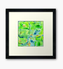 In the Forest in Spring Abstract Watercolor Collage Framed Print