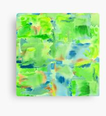 In the Forest in Spring Abstract Watercolor Collage Metal Print
