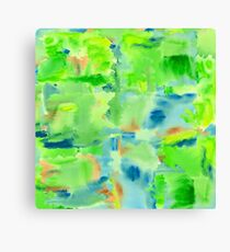 In the Forest in Spring Abstract Watercolor Collage Canvas Print
