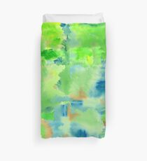 In the Forest in Spring Abstract Watercolor Collage Duvet Cover