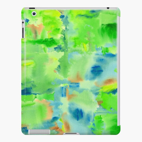 In the Forest in Spring Abstract Watercolor Collage iPad Snap Case