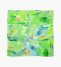 In the Forest in Spring Abstract Watercolor Collage Scarf