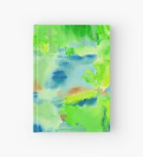 In the Forest in Spring Abstract Watercolor Collage Hardcover Journal