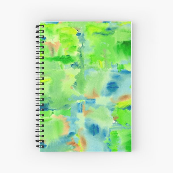 In the Forest in Spring Abstract Watercolor Collage Spiral Notebook