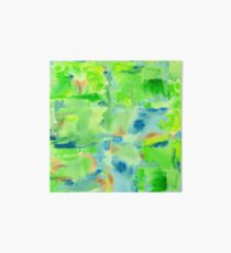 In the Forest in Spring Abstract Watercolor Collage Art Board