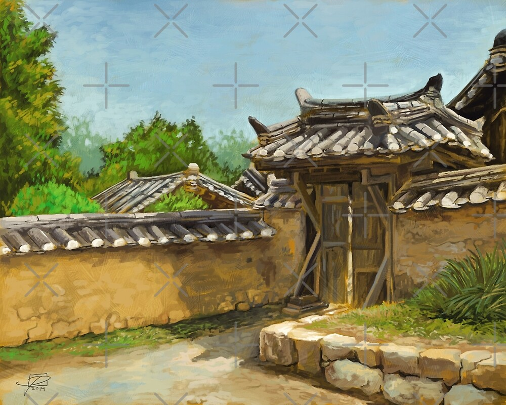 Korean Gate by Jeff Powers Illustration