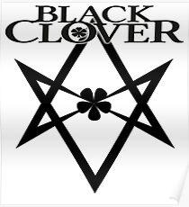 Black Clover Five Leaf Poster