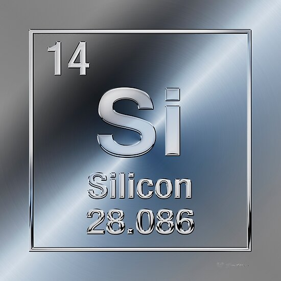 Periodic Table Of Elements Silicon Si Posters By Serge Averbukh