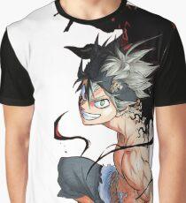 Asta Dämon Form Grafik T-Shirt