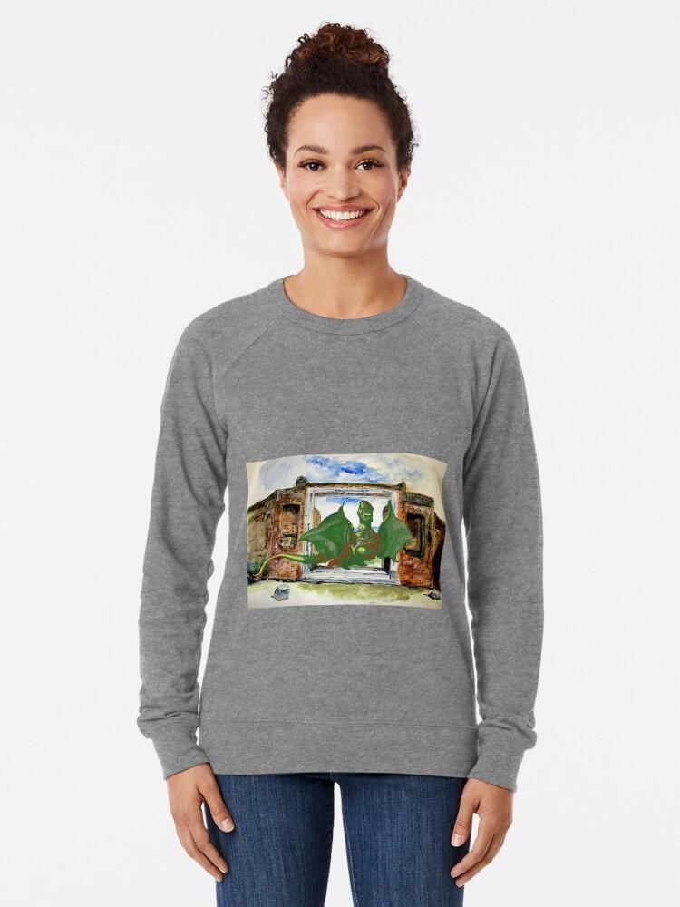 Alternate view of Dragon In Pompeii Lightweight Sweatshirt