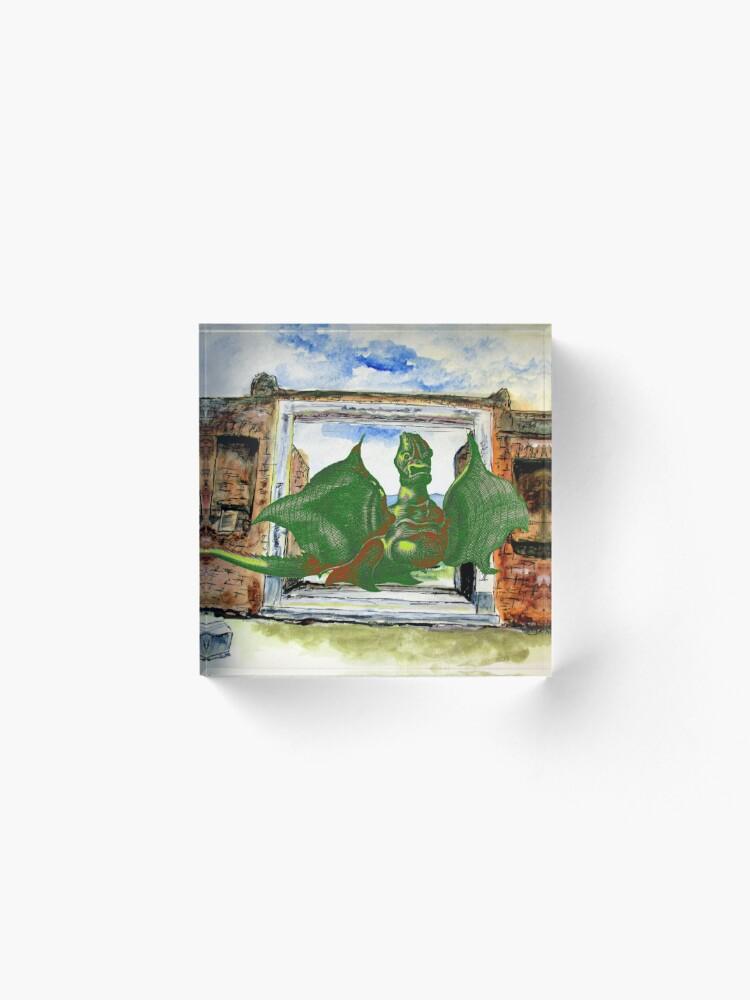 Alternate view of Dragon In Pompeii Acrylic Block