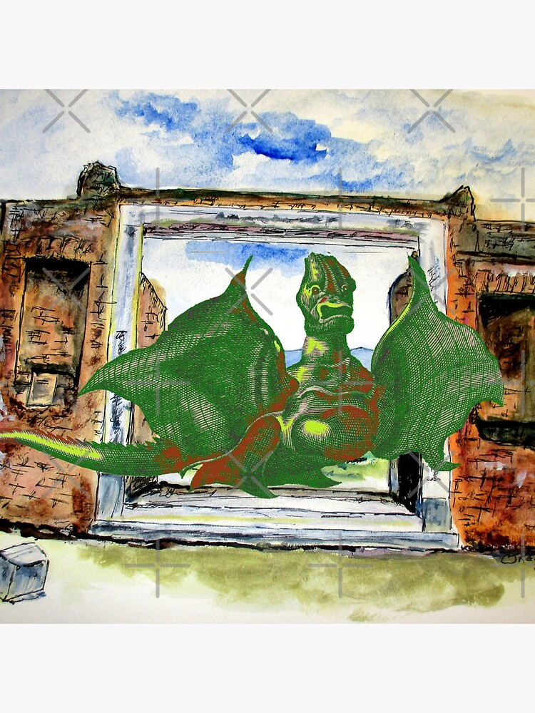 Dragon In Pompeii by cjkell