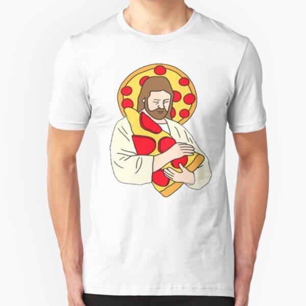 Pizza Jesus Slim Fit T-Shirt
