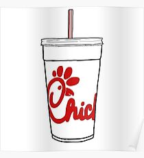 chick fil a cup Poster