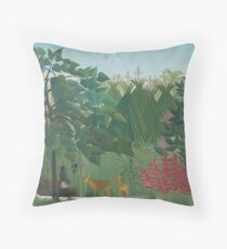 The Waterfall by Henri Rousseau Throw Pillow