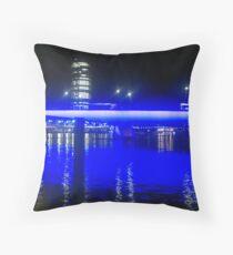 Painting the Town Yves Klein Blue Throw Pillow
