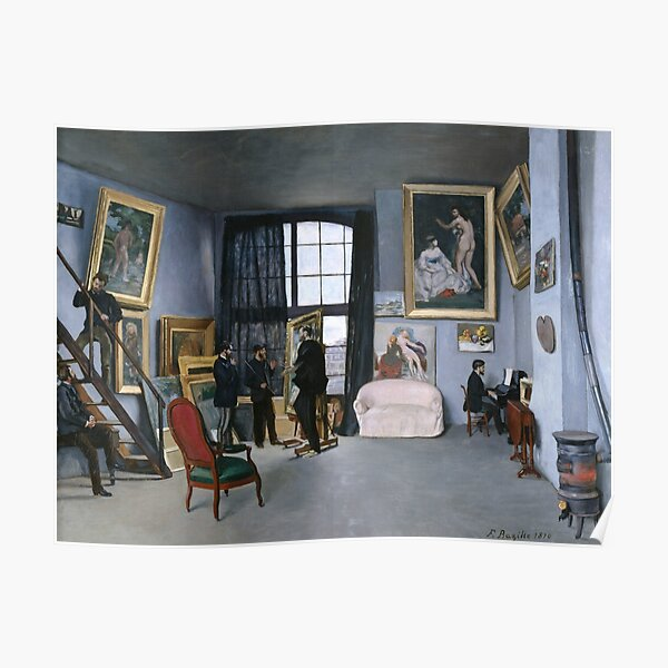 Bazille's Studio by Frederic Bazille Poster