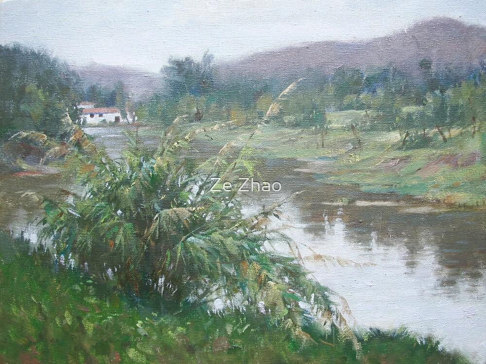 River Scene by Ze Zhao