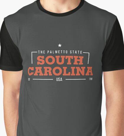 South Carolina American States Badge Design Graphic T-Shirt