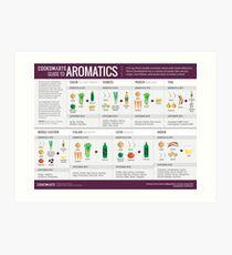 Cook Smarts 'Guide zum Hinzufügen von Aromen mit Aromaten Kunstdruck