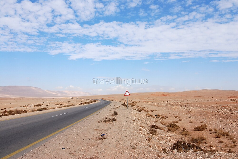 Syrian Desert Road by travellingtwo