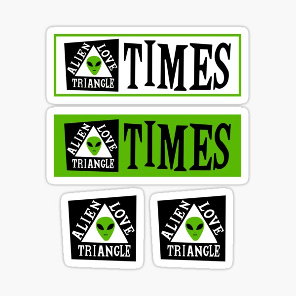 Alien Love Triangle Times Sticker Pack Sticker