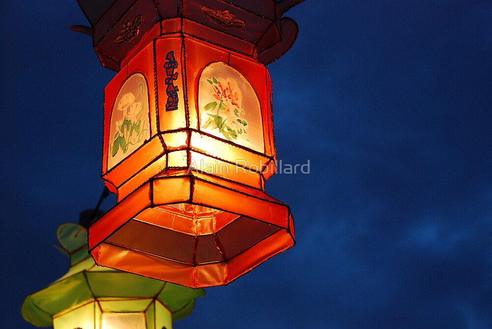 Chinese night lamp by Alain Robillard