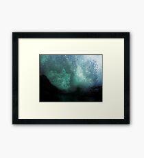 #1105 - Aqua Marine Framed Print