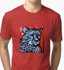 Cheetah artwork Tri-blend T-Shirt