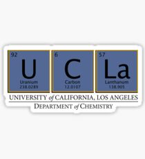 Univeristy of California, Los Angeles (UCLA) Department of Chemistry Sticker