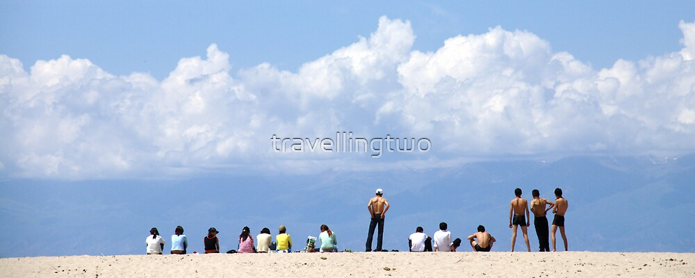 Teenagers at the Beach by travellingtwo