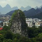 A mountain in the city - China by Christophe Dur