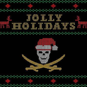 Jolly Holidays Pirate Ugly Christmas Shirt by dutchlovedesign