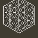 Hex Outline Flower of Life (dark background) by hexagrahamaton