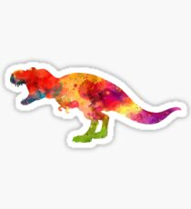Watercolor Splash Love T-Rex Tee Shirt Sticker