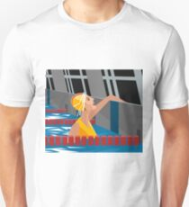 swimming pool happy smile girl T-Shirt