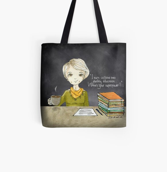 Teacher Coffee 3 All Over Print Tote Bag