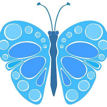 Blueberry Sky 60s Butterfly by JaZilla