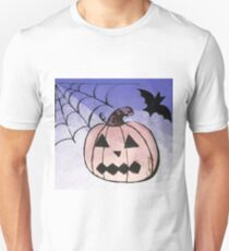 Jack-o-lantern with purple ombre background  T-Shirt